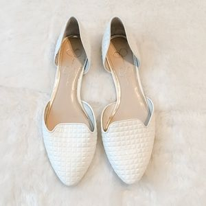 Jessica Simpson White Patent Leather Flats Size 8